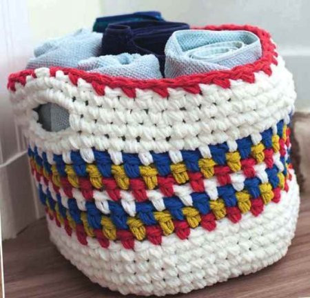 ​Crochet Basket for Bathroom