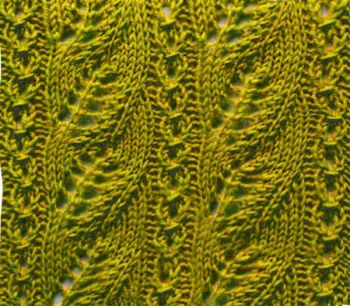 ​Knit Stripes of Leaves Pattern