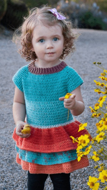 Helping our users. ​Crochet Baby Girl Sweater-Dress.