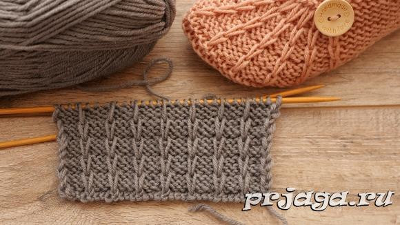 ​Knit Pattern with Slipped Stitches for Hats and Cowls